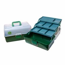 Ящик спиннингиста  трёхполочный для рыболовных приманок и принадлежностей ТРИ КИТА